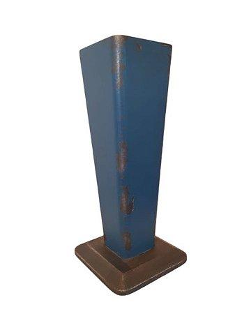Cachepô Azul de Madeira Médio