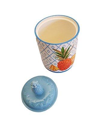 Pote Decorativo de Cerâmica Pineapple Médio