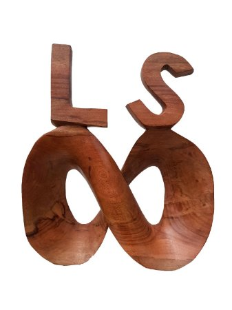 Escultura Símbolo Infinito LS com Acabamento Encerado