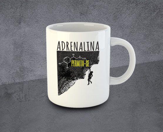 Caneca Adrenalina Cerâmica