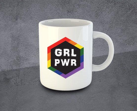 Caneca GRLPWR Diversidade