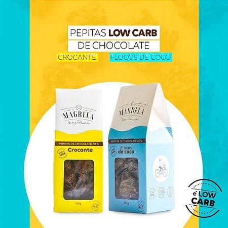 Pepita de Chocolate 70% Low Carb - Kit Coco e Crocante