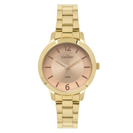 Relógio Condor Feminino Top_Fashion Dourado CO2035KYZ/K4T