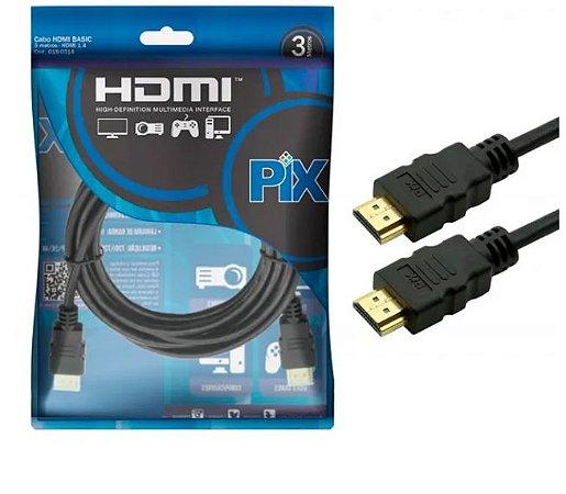 CABO HDMI VERSAO 1.4 4K 15 PINOS 2 Metros