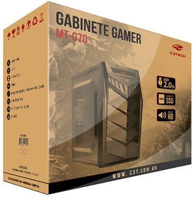Gabinete Para PC ATX Gamer MT-G70 C3 Tech - Sem Fonte