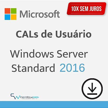 CALs de Usuário Windows Server 2016
