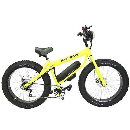 Bicicleta Elétrica Motorizada Fat Bike aro 26 Bikelete 350w