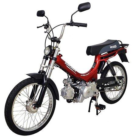 Mobilete 4 Tempos Bikelete Moby 4T Automática - Vermelha