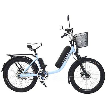 Bicicleta Elétrica Sonny 350w com Bateria de Lítio - Azul
