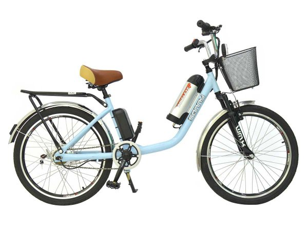 Bicicleta Motorizada 350w Sonny Elétrica Lítio Cesta