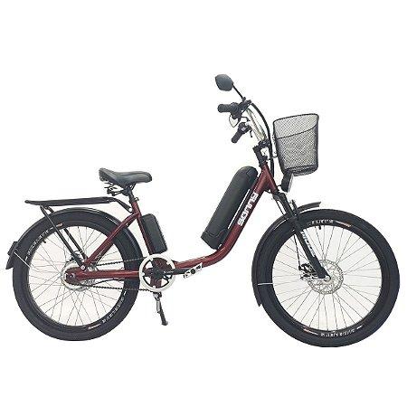 Bicicleta Elétrica Sonny 350w com Bateria de Lítio - Vermelho
