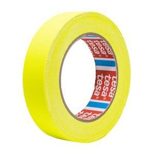 Fita Tecido Gaffer Tape Tesa 24mm X 25m Amarela Fluorescente
