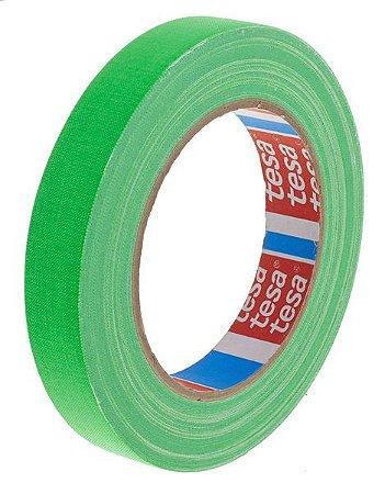 Fita Tecido Gaffer Tape Tesa 12mm X 25m Verde Fluorescente