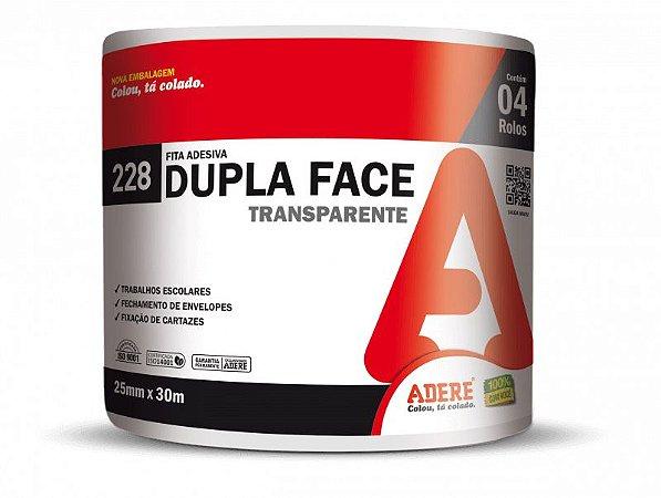 Fita Dupla Face BOPP 25mm x 30m Adere 228