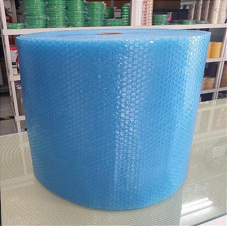 Plastico Bolha Reforçado 40cm x 100m Azul