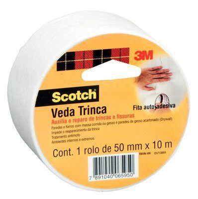 Fita Scotch 3M Veda Trinca 50mm x 10m