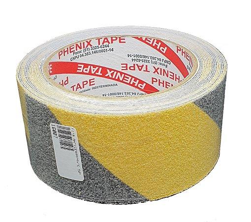 Fita Antiderrapante Zebrada 50mm x 5m (Amarela e Preta)