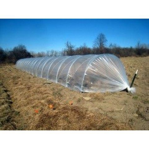 Lona Plástica Transparente Estufa com proteção U.V. MÉDIA 8m de largura