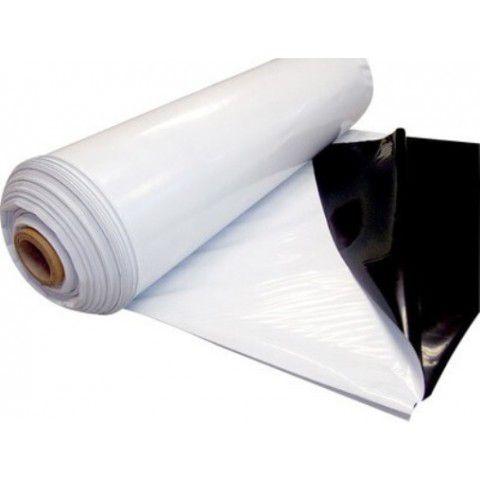 Lona Plástica SILAGEM Branca/Preto com proteção U.V. GROSSA  8m de largura