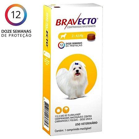 Bravecto Oral (2 a 4,5 Kg)
