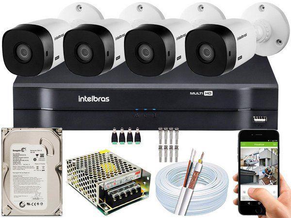 Kit de 4 câmeras Intelbras HDCVi