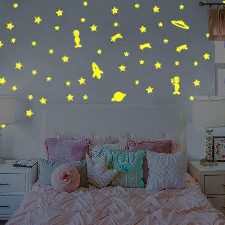 Estrelas Brilham no Escuro - Fotoluminescente