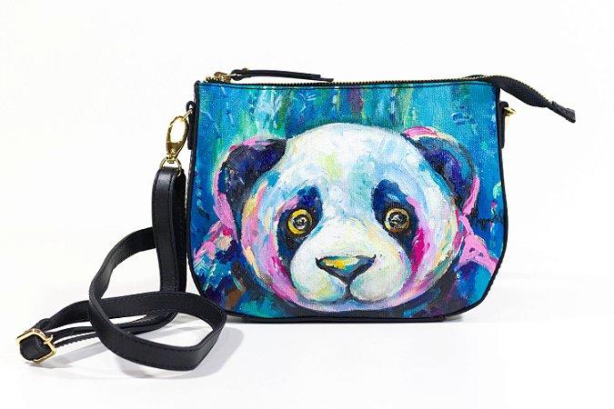 Bolsa AANIS Arte Mini Panda Gigante Preta