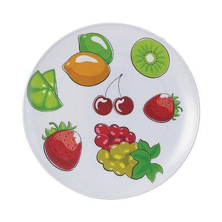 Prato Melamina Frutas 25,5cm