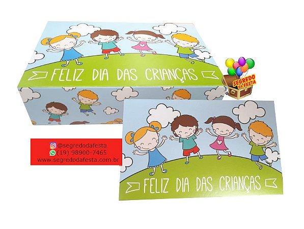 CAIXINHA DIVERTIDA P/ 6 DOCES - DIA DAS CRIANÇAS