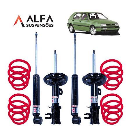 KIT COMPLETO DE SUSPENSÃO FIXA ESPORTIVA VW GOLF MK3 (1991/1999)