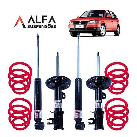 KIT COMPLETO DE SUSPENSÃO FIXA ESPORTIVA VW GOL G1 a G4 *SEM TELESCOPIO* (1995/2010)