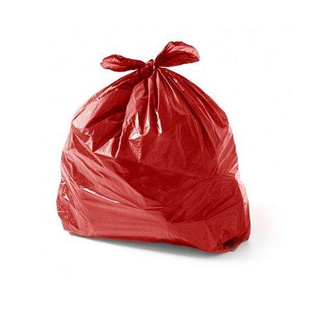Saco de Lixo 40 Litros Vermelho