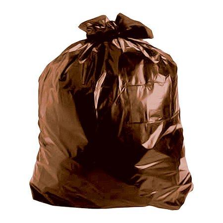 Saco de Lixo 100 Litros Marrom