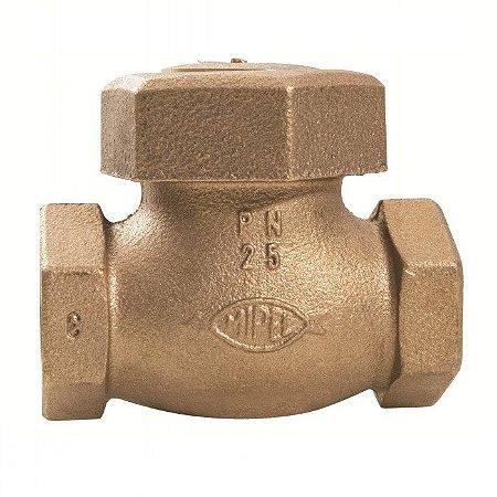 """Válvula de Retenção Horizontal Bronze Pistão 1.1/2"""" - Fig. 046"""