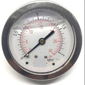 Manômetro Reto Cx Aço carbono, internos latão 6'' Escala 0-2 x 30 c/glicerina bsp