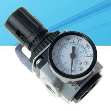 regulador de pressão mini 1/4 com manômetro