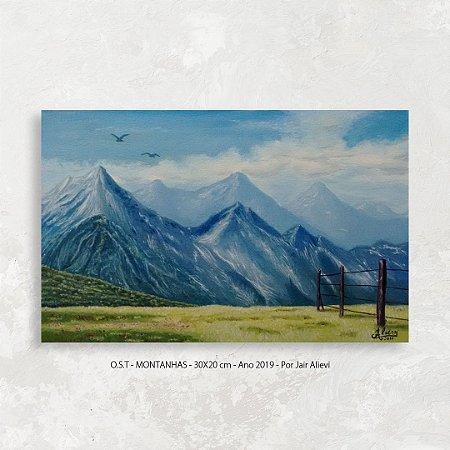Quadro Montanhas - Tinta Óleo Sobre Tela 30x20cm