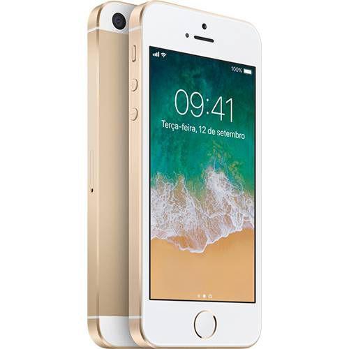 iPhone SE 32GB Dourado IOS 4G Câmera 12MP - Apple
