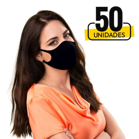 Mascara Lavável  Antiviral com Íons de Prata - Display 50 Unidades