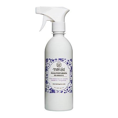 Água Perfumada de Óleos Essenciais de Lavanda, Camomila e Bergamota