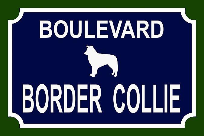 Placa Boulevard - várias raças