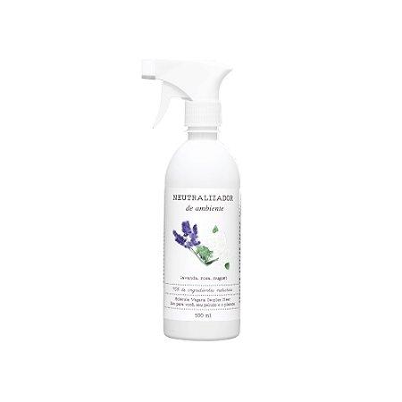 Neutralizador de odores e Aromatizador de ambiente de Lavanda e Rosas Brancas