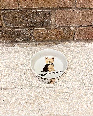 Comedouro Porcelana Yorkshire