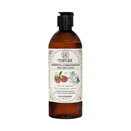 Shampoo e Condicionador Framboesa , Jasmim , Lavandim e Óleo de Acabate Hipoalergênico, sem parabenos e sem sulfatos 500 ml