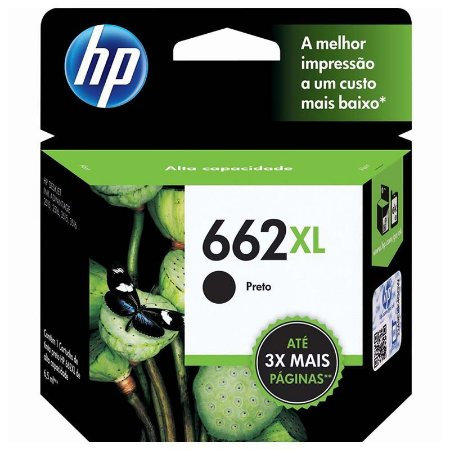 Cartucho HP 662 XL Preto Original (CZ105AB) 17571