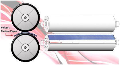 Análise de Pressão de Rolos de Calandra FUJIFILM e CARBON PAPER