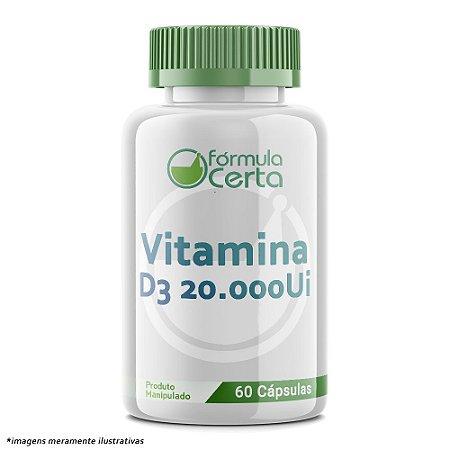 Vitamina D3 20.000UI  60 Cápsulas