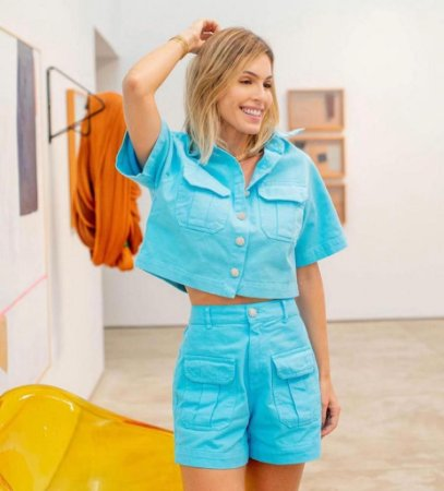 Shorts Sarja Colors Azul
