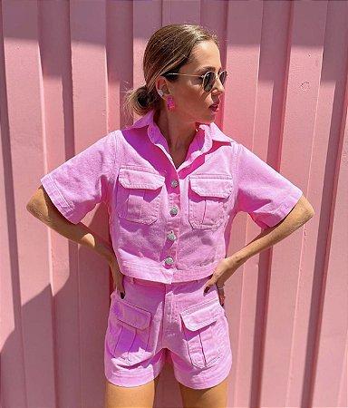 Shorts Sarja Colors Rosa