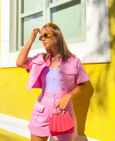 Shorts de Sarja Rosa